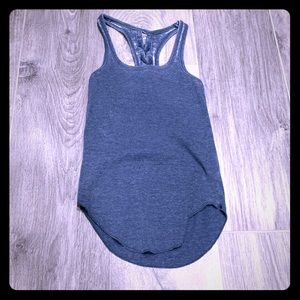 NWOT CHASER burnout blue tank- XS